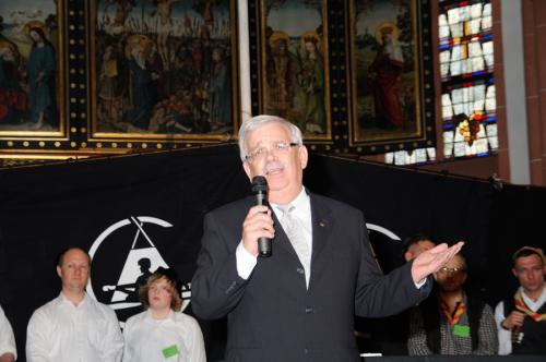 Ansprache von Bürgermeister Walter Mallmann auf dem Rheinischen Singewettstreit 2012, Foto: Andreas Winkelmann