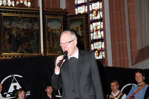 Ansprache von Pastor Manfred Weber auf dem Rheinischen Singewettstreit 2012, Foto: Andreas Winkelmann