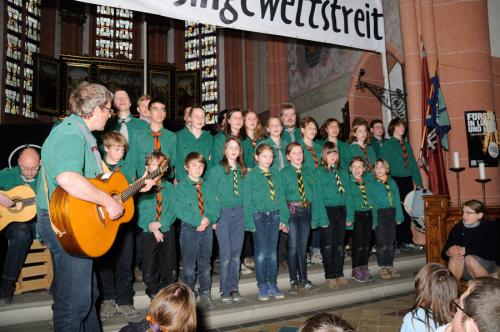 Pfadfinderbund Kreuzfahrer, Stamm Hildebrand beim Rheinischen Singewettstreit 2012, Foto: Andreas Winkelmann