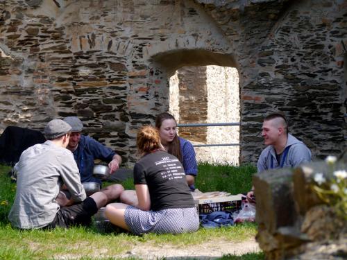 Lagerleben auf Burg Rheinfels, RSW 2018, Foto: Karin Stoverock