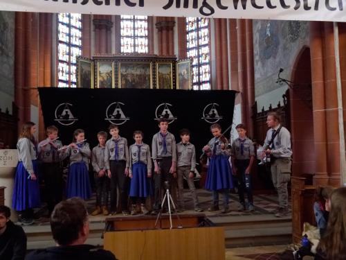 Rheinischer Singewettstreit 2019, Verband Christlicher Pfadfinderinnen und Pfadfinder Aachen, Stamm Minas Anor, Sippe Vanyar, (c) Karin Stoverock