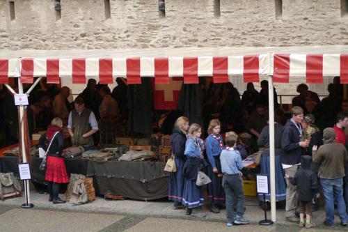 Pfadiflohmarkt auf dem Rheinischen Singewettstreit 2015 in St. Goar, Foto: Karin Stoverock