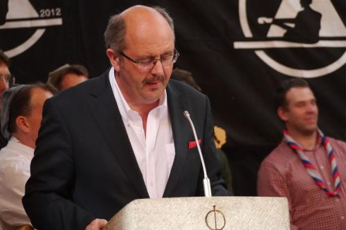 Ansprache von Bürgermeister Vogt auf dem Rheinischen Singewettstreit in St. Goar 2015, Foto: Karin Stoverock